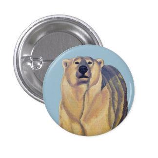 Polar Bear Buttons Pin Wildlife Art Button