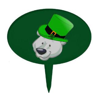 Polar Bear Cake Topper - St Patricks Day Decor
