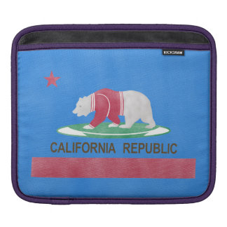 Polar Bear California Republic Global Warming iPad Sleeve