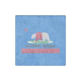 Polar Bear California Republic Stone Magnet