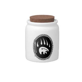 Polar Bear Candy Jar Tribal Bear Art Jars & Gifts