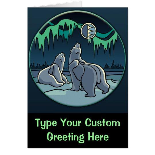 Polar Bear Card Custom Cards Wildlife Art Card