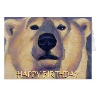 Polar Bear Card Personalize Polar Bear Art Card