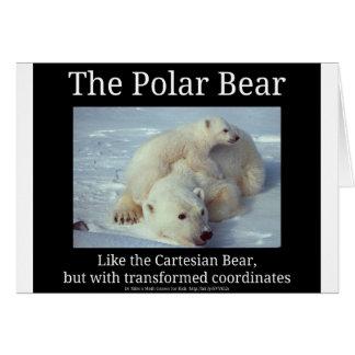 Polar Bear Cartesian Bear Card
