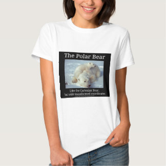 Polar Bear Cartesian Bear T-shirt