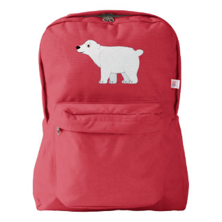 Polar Bear Cartoon American Apparel™ Backpack