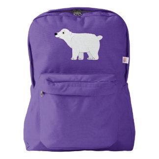 Polar Bear Cartoon Backpack