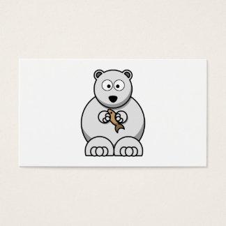 Polar Bear Cartoon Business Card
