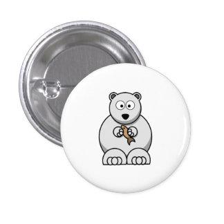Polar Bear Cartoon Pinback Buttons