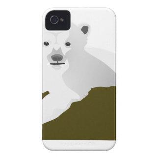 Polar Bear Cartoon iPhone 4 Case-Mate Case
