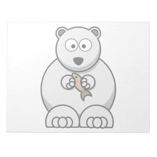 Polar Bear Cartoon Notepad