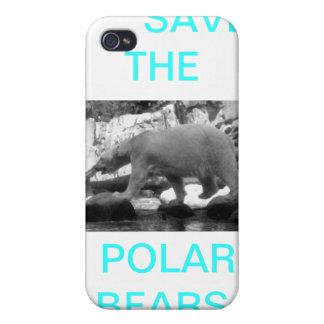 Polar bear case cases for iPhone 4