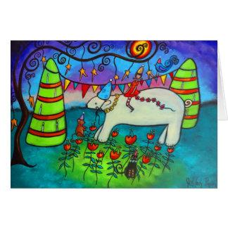 Polar Bear Celebration Birthday Card