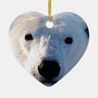 Polar Bear Ceramic Ornament
