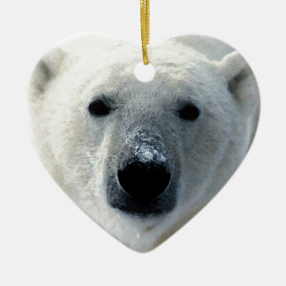 Polar Bear Ceramic Ornament