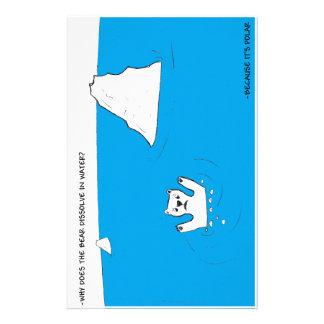 Polar bear chemistry joke stationery