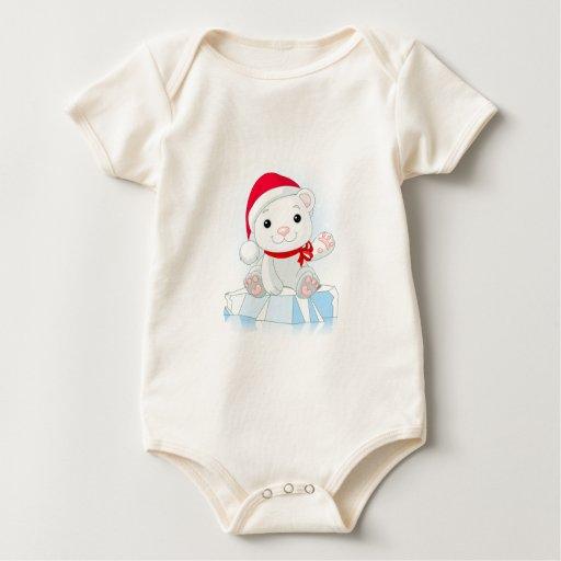 Polar Bear Christmas Baby Bodysuit
