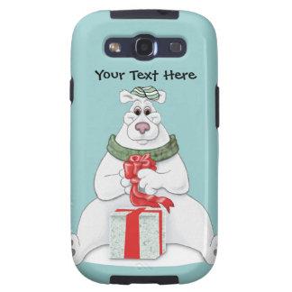 Polar Bear Christmas Galaxy SIII Covers