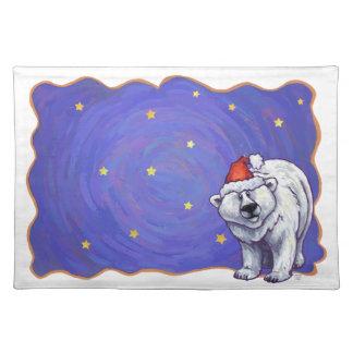 Polar Bear Christmas Cloth Placemat