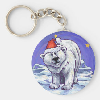 Polar Bear Christmas Keychain