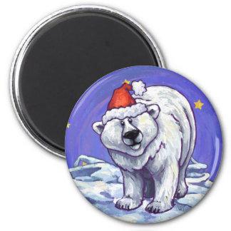 Polar Bear Christmas Magnet