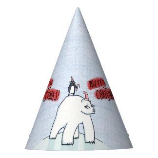 Polar Bear Christmas snow Party Hat
