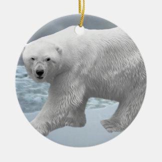 Polar Bear christmas tree Ceramic Ornament