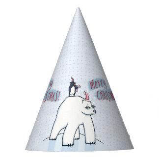 Polar Bear Christmas white Party Hat