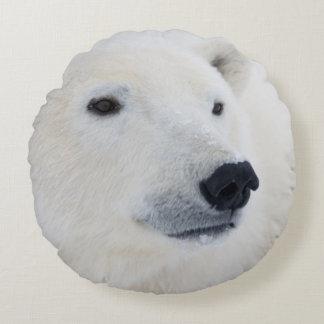 Polar Bear Churchill Round Pillow