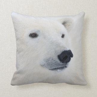 Polar Bear Churchill Throw Pillow