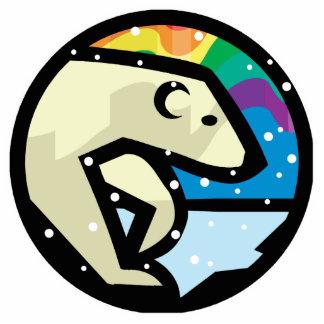 polar bear circle design acrylic cut outs