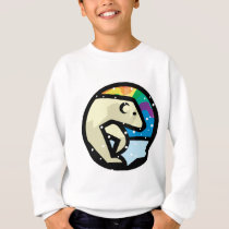 polar bear circle design sweatshirt