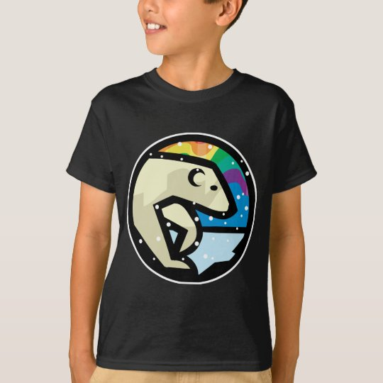 polar bear circle design T-Shirt