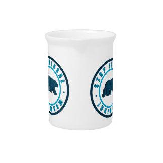 polar bear circle vintage design pitchers