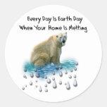Polar Bear Classic Round Sticker