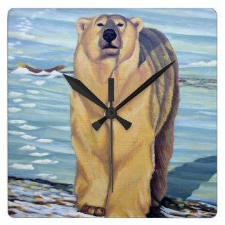 Polar Bear Clock Bear Art Wall Clocks Bear Decor