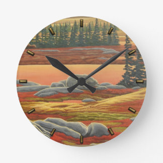 Polar Bear Clock Churchill Autumn Bear Wall Clock