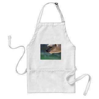 Polar Bear Close Up Portrait Adult Apron