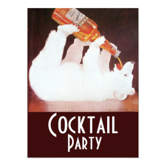POLAR BEAR COCKTAIL PARTY ,white brown red Card
