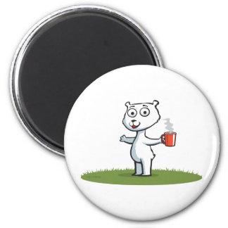Polar Bear Coffee Magnet