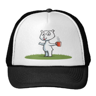 Polar Bear Coffee Trucker Hat