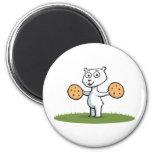 Polar Bear Cookie Fridge Magnet