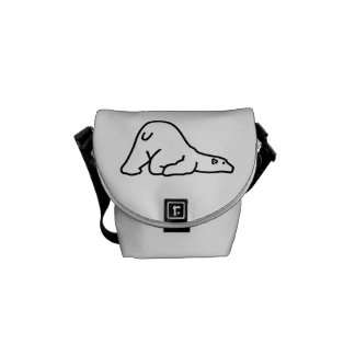 Polar bear courier bag