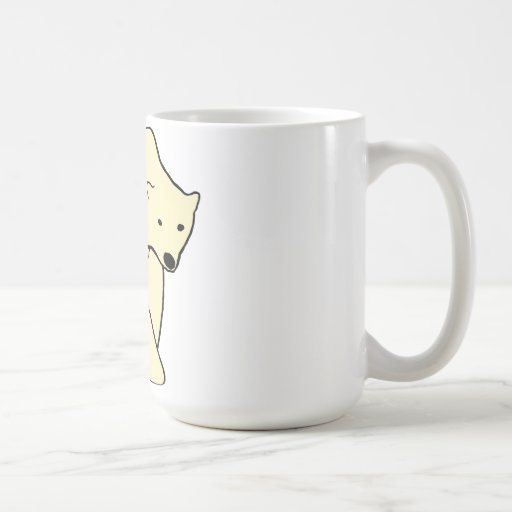 Polar Bear - Cream Color Coffee Mug