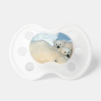 Polar bear cub 1 pacifier