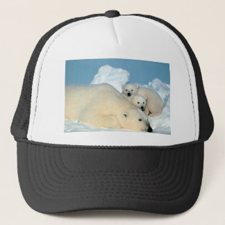 Polar bear cub 1 trucker hat