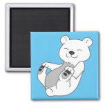 Polar Bear Cub 2 Inch Square Magnet