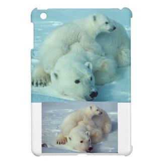 Polar bear cub and mom - 2 iPad mini cover