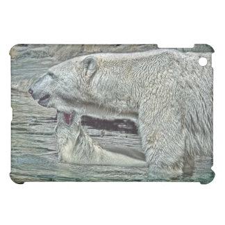 Polar Bear Cub Bad Baby with Mom iPad Mini Case