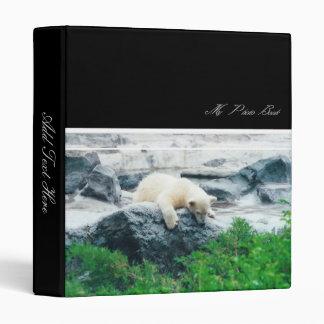 Polar Bear Cub Binder w/ your text